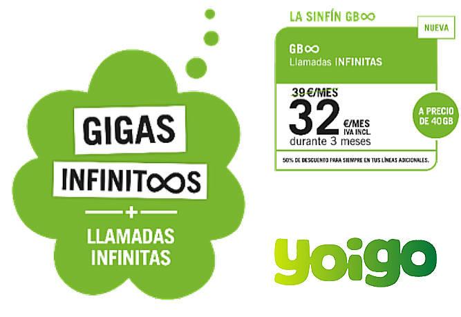 """Yoigo lanza la nueva tarifa móvil Sinfín con llamadas y gigas infinitos """"de verdad"""""""