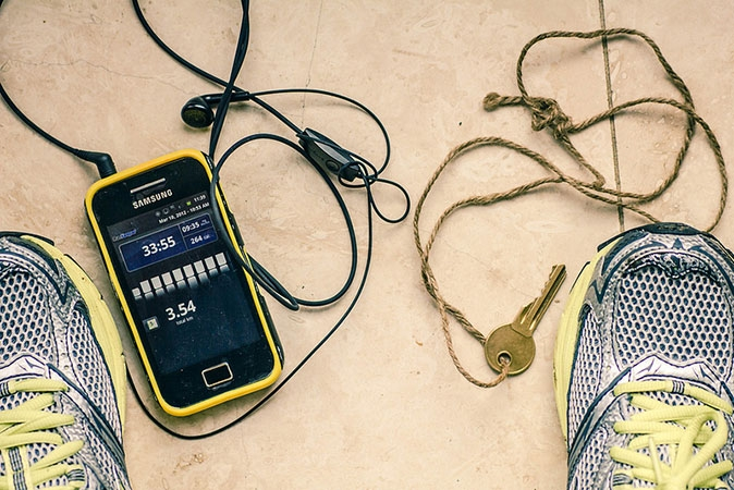 Zapas +  smartphone + RunKeeper