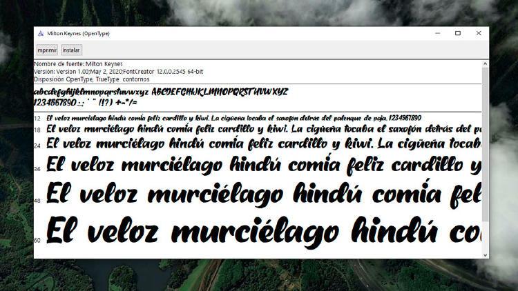 instalar tipografía windows