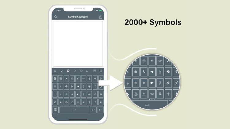 caracteres especiales iphone