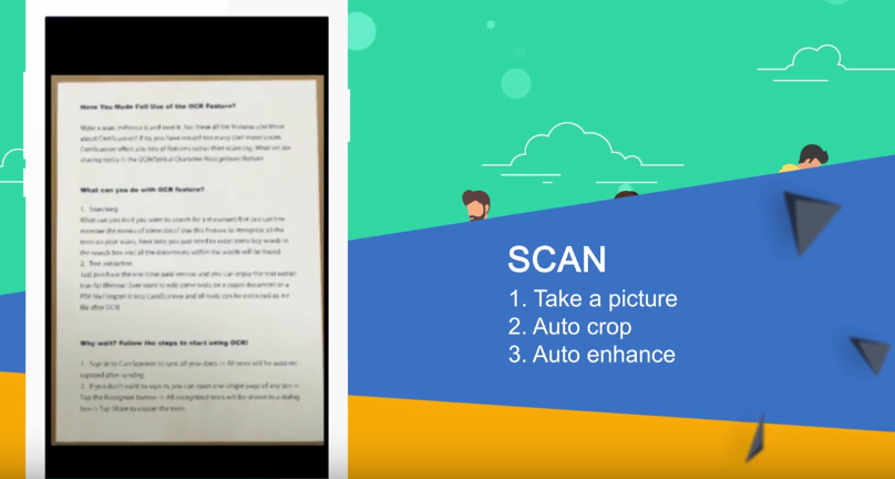 escanear documentos con app camscanner