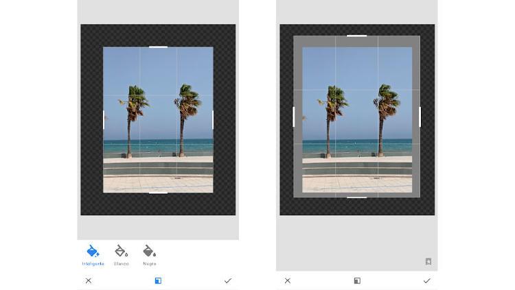 expandir foto snapseed movil