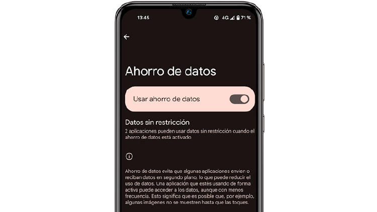 ahorro datos moviles android