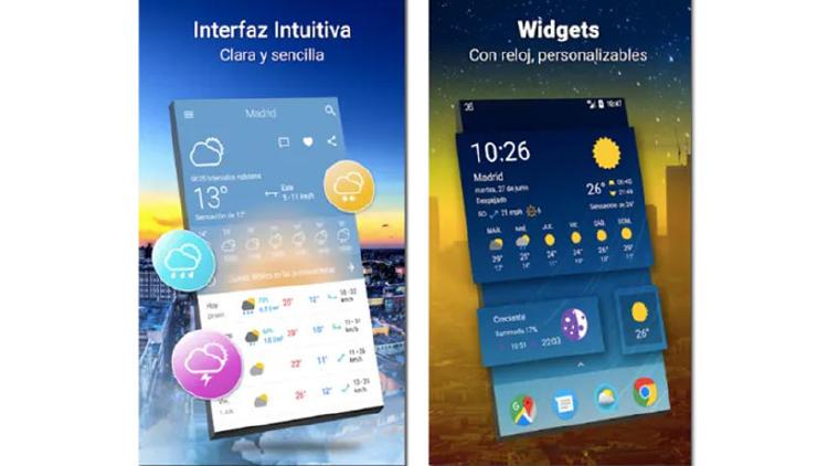 El tiempo 14 Días app Android