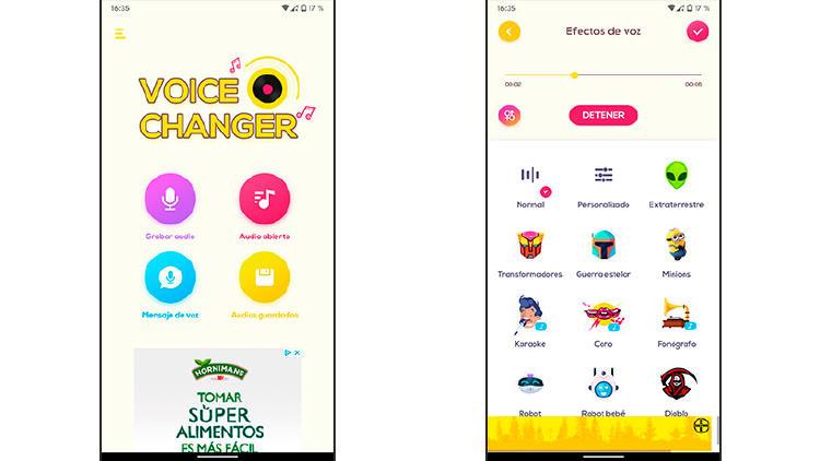 cambiar la voz movil app