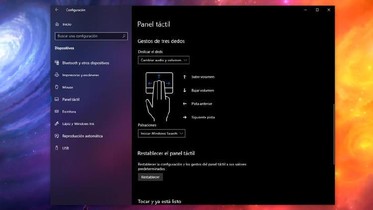 gestos touchpad windows 10