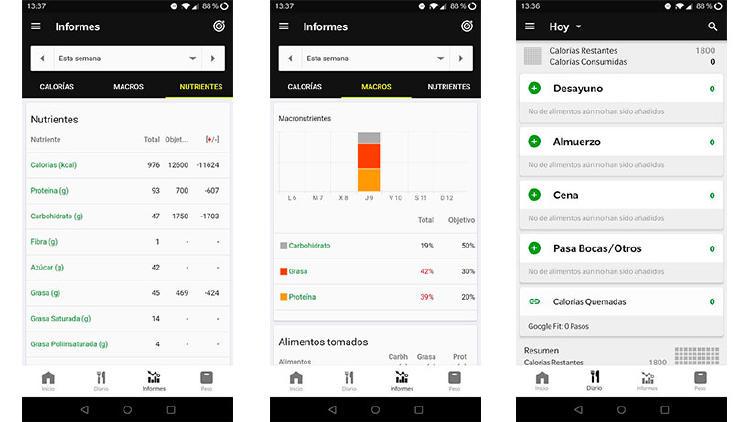 app medir calorias movil