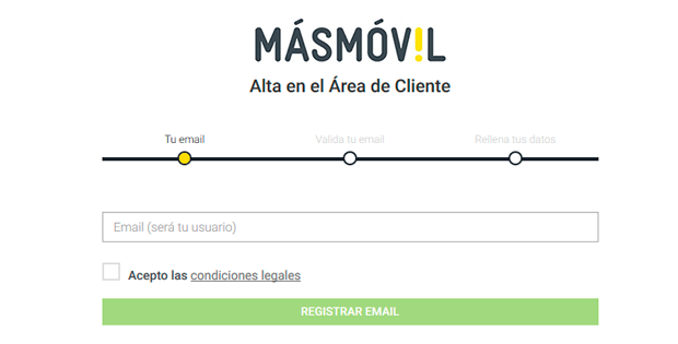 registro área de cliente másmóvil