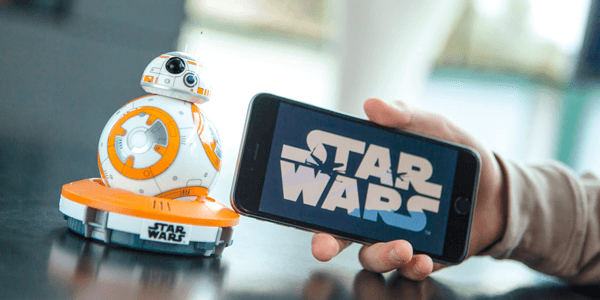 Droide bb8 y app móvil star wars
