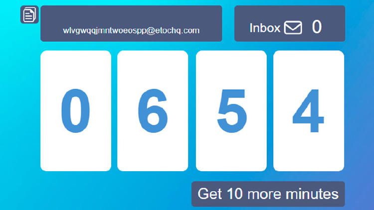 correo electrónico 10 minutos