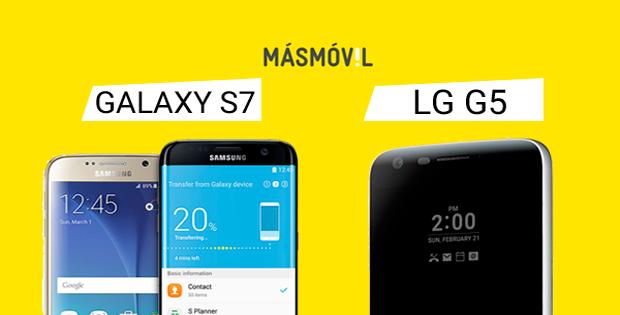 comparador de móviles LG G5 vs Samsung Galaxy S7