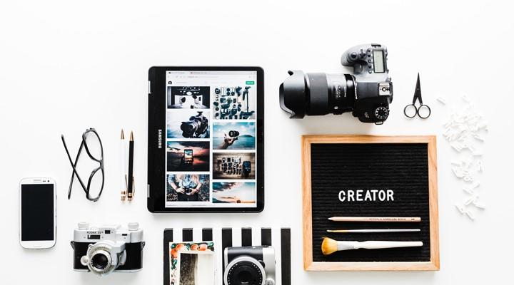 Cámara, tablet y gadgets
