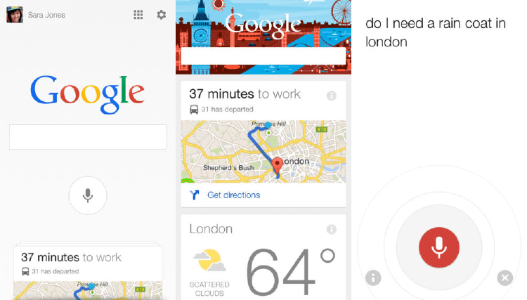 Google Now en móvil