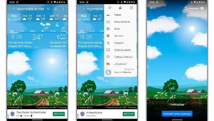 fondo pantalla cambio tiempo dia noche
