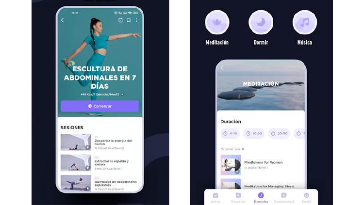 app yoga ejercicios movil